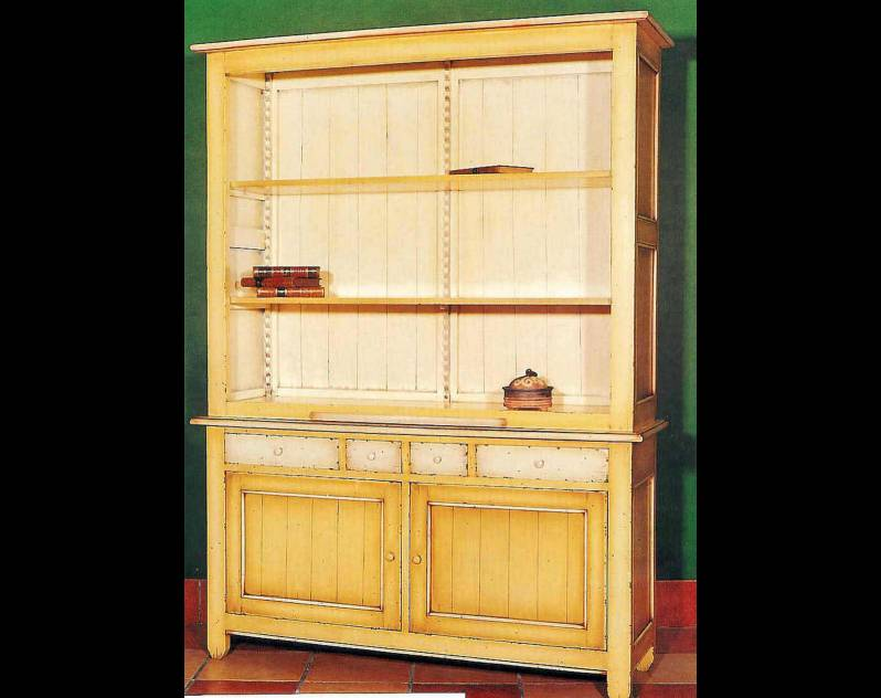 Librería abierta Modelo Venecia realizada en madera maciza de Landa
