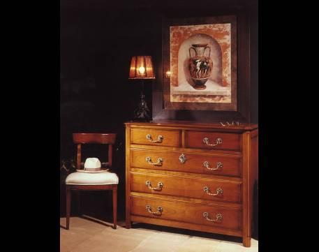 Recibidor cómoda Modelo Limoux elaborada en madera maciza de Cerezo Francés