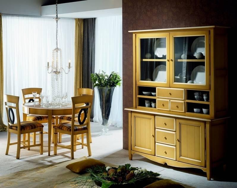 Conjunto de Comedor fabricado en madera maciza de Landa