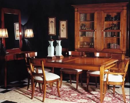 Muebles de Comedor Nápoles con acabado en color Cerezo