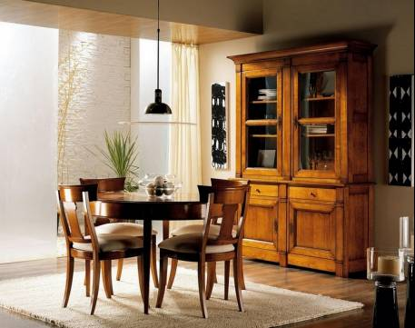 Conjunto de Salón confeccionado en madera maciza de Cerezo Francés