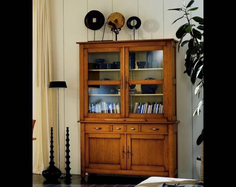 Vitrina Modelo Venecia en madera maciza de Landa