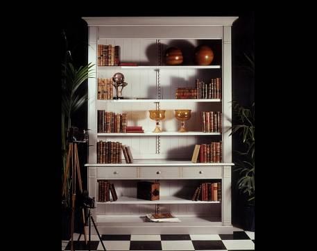 Librería Modelo Limoux elaborada en madera maciza de Cerezo Francés