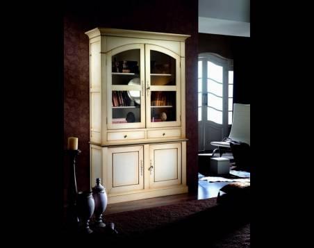 Librería-Vitrina en arco Modelo París, fabricada en madera de Landa de calidad superior