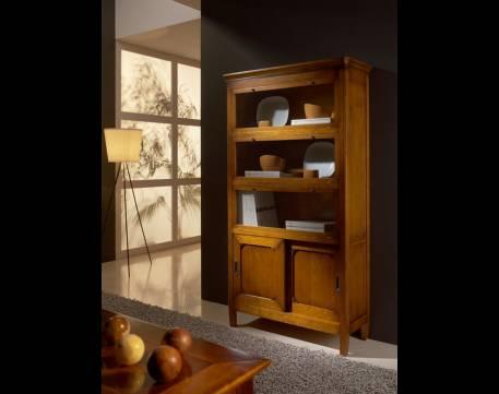 Vitrina Modelo Tívoli fabricada en madera maciza de Cerezo y Tilo
