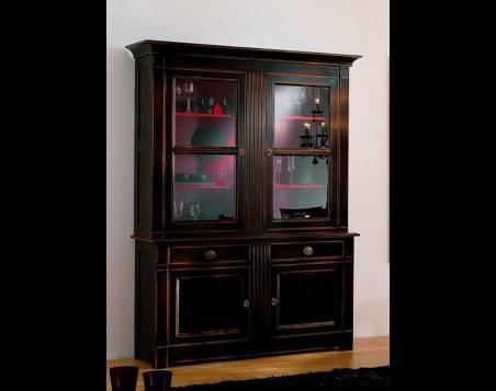 Vitrina de Diseño Modelo Limoux en color negro de madera maciza