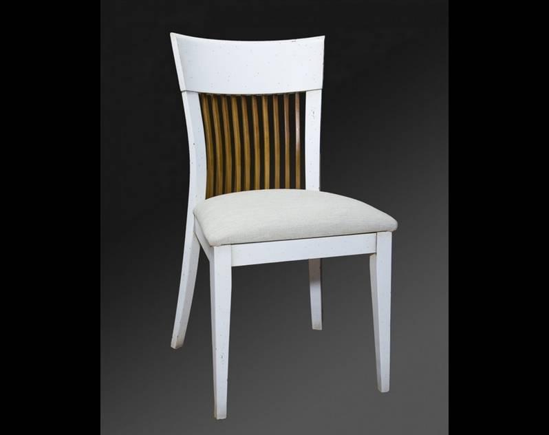 Silla de Comedor Modelo Cibeles en color Blanco de madera maciza
