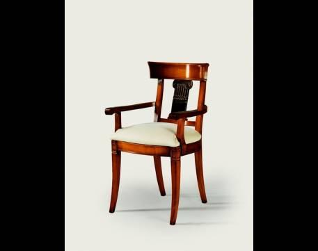Sillón de Comedor Modelo Roma fabricada en madera maciza de Cerezo