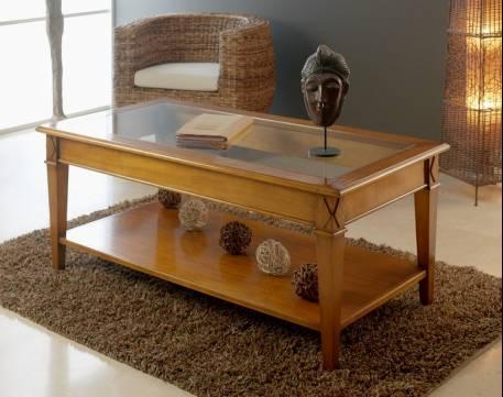 Mesa de Centro Modelo Tívoli elaborada en madera maciza en color Natural