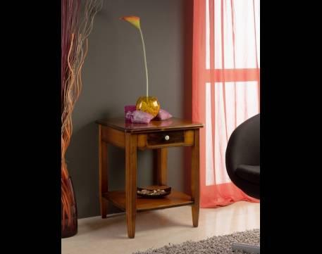 Mesa de Rincón cuadrada Modelo Tívoli elaborada en madera maciza de Cerezo y Tilo