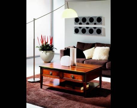 Mesa de Centro rectangular Modelo Limoux elaborada en madera maciza de Cerezo