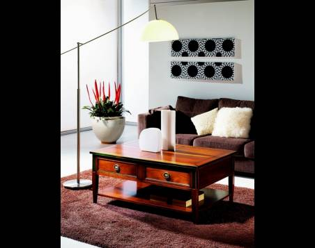 Mesa de Centro rectangular Modelo Limoux en madera maciza de Cerezo