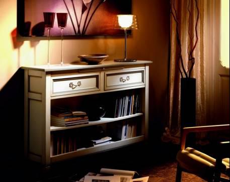 Aparador-Librero Modelo Viena confeccionado en madera de Cerezo y Tilo maciza