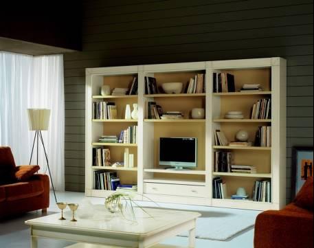 Mueble de TV Modelo Viena realizada en madera maciza de Cerezo y Tilo