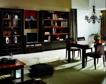 Mueble de TV Modelo Viena confeccionada en madera maciza de Cerezo y Tilo