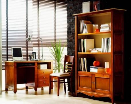 Librería Modelo Luna elaborada en madera maciza de Landa