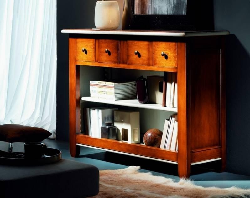 Aparador-Librero Modelo Venecia elaborado en madera maciza de Landa