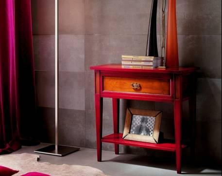 Mesa Auxiliar Modelo Limoux elaborada en madera maciza de Cerezo Francés