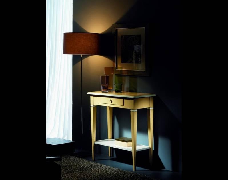 Mesita Recibidor Modelo Viena en madera maciza de Cerezo y Tilo