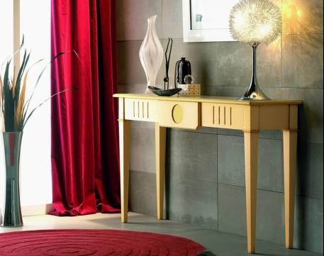 Consola Recibidor Modelo Limoux elaborado en madera maciza de Cerezo Francés