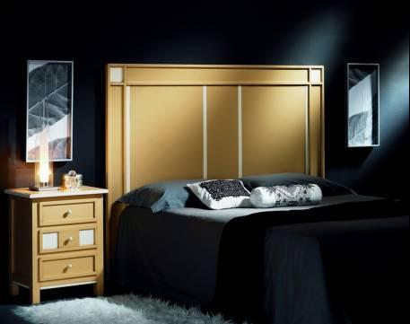 Dormitorio de matrimonio Modelo Ana elaborado en madera de Landa maciza