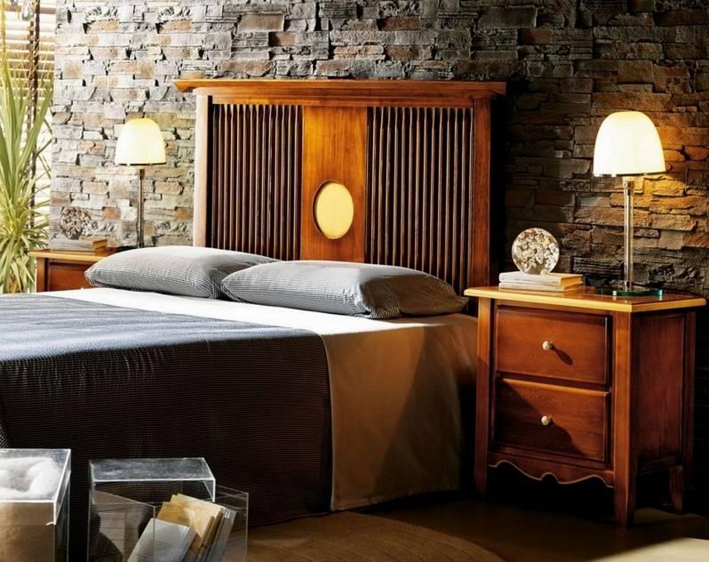 Conjunto de Dormitorio Modelo Kobe fabricado en madera maciza de Landa