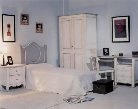 Conjunto de Dormitorio Juvenil confeccionado en madera maciza de Landa