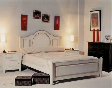 Conjunto de Dormitorio Modelo Venecia fabricado en madera de Landa maciza