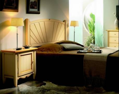 Cabecero Modelo Palma confeccionado en madera maciza de Landa