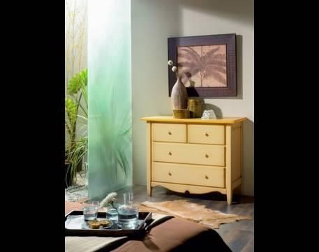 Cómoda Modelo Luna fabricada en madera maciza de Landa