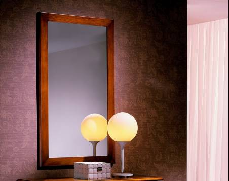 Espejo de hogar Modelo Venecia elaborado en madera de Landa maciza