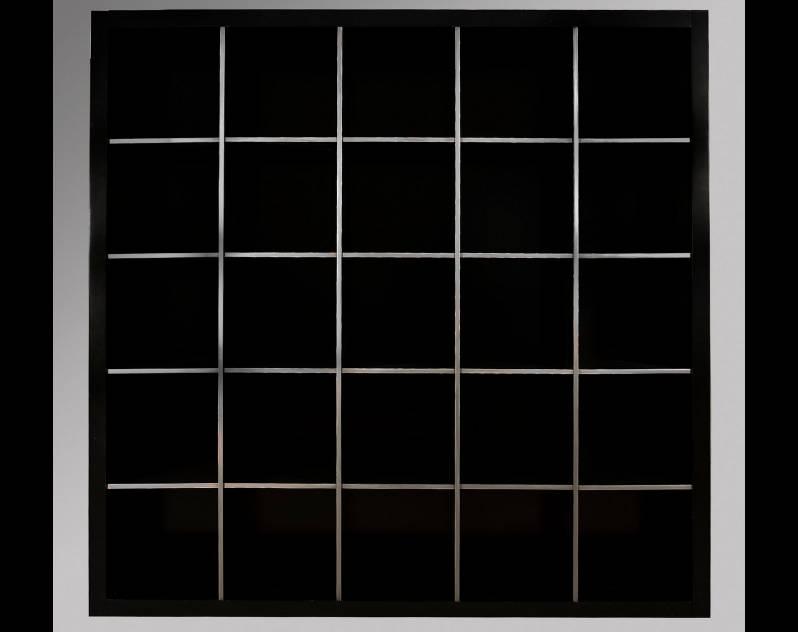 Estantería Modular Modelo Endo2 terminada en color Negro combinado con pan de Plata