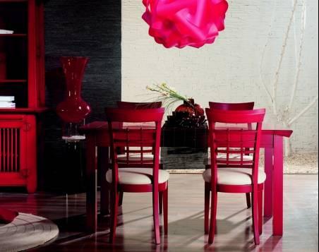 Conjunto de Mesa de Comedor y 4 Sillas Modelo Kobe 160 estilo Oriental