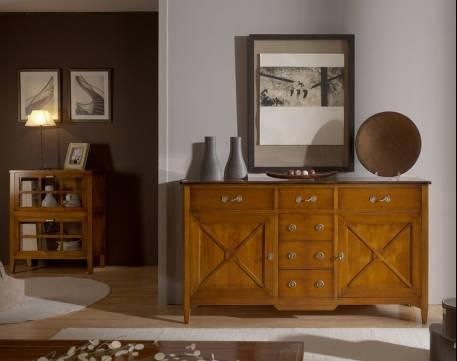 Aparador Buffet Modelo Tívoli de diseño original en color Cerezo
